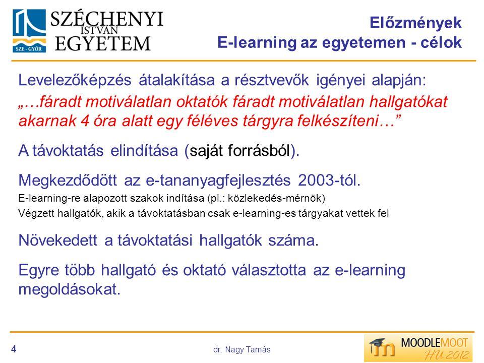 E-learning az egyetemen - célok