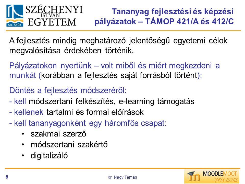 Tananyag fejlesztési és képzési pályázatok – TÁMOP 421/A és 412/C