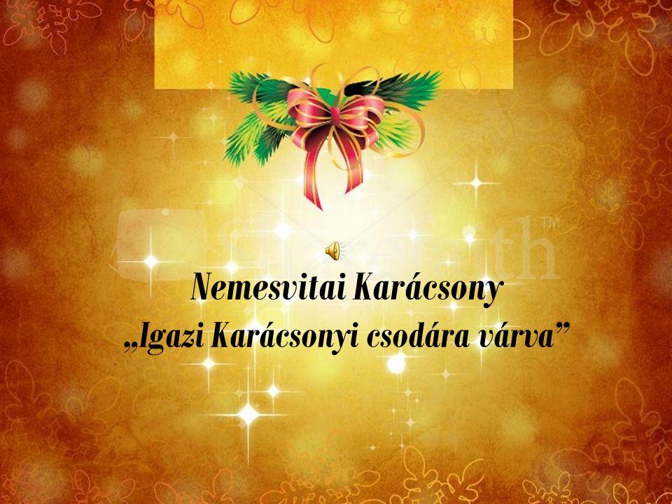 """Nemesvitai Karácsony """"Igazi Karácsonyi csodára várva"""