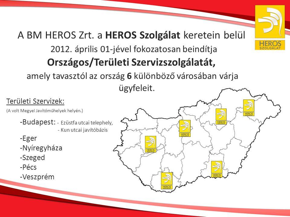A BM HEROS Zrt. a HEROS Szolgálat keretein belül 2012