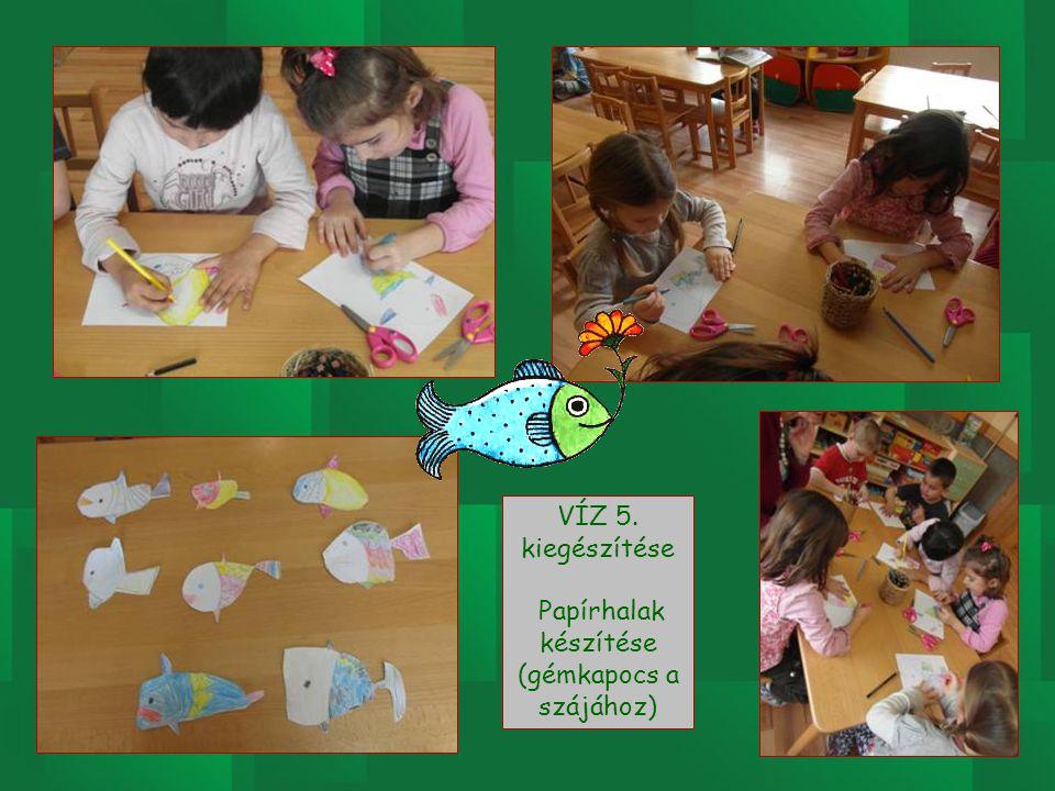 Papírhalak készítése (gémkapocs a szájához)
