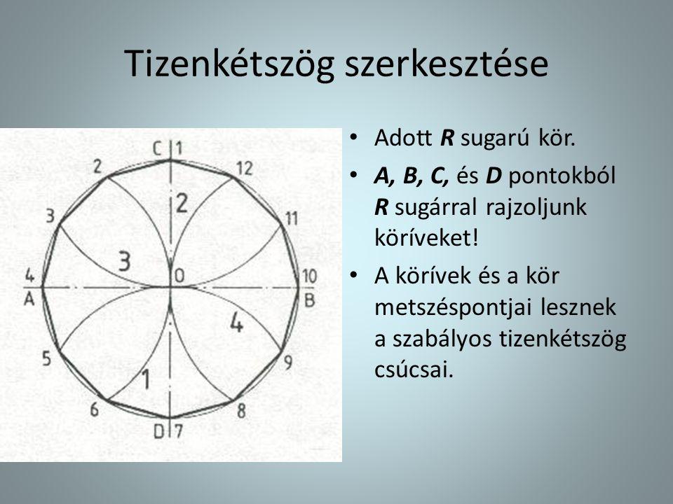 Tizenkétszög szerkesztése