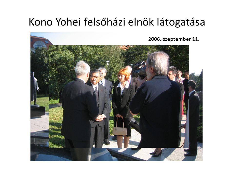 Kono Yohei felsőházi elnök látogatása