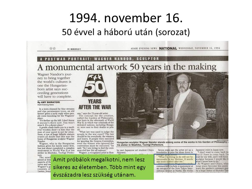 1994. november 16. 50 évvel a háború után (sorozat)