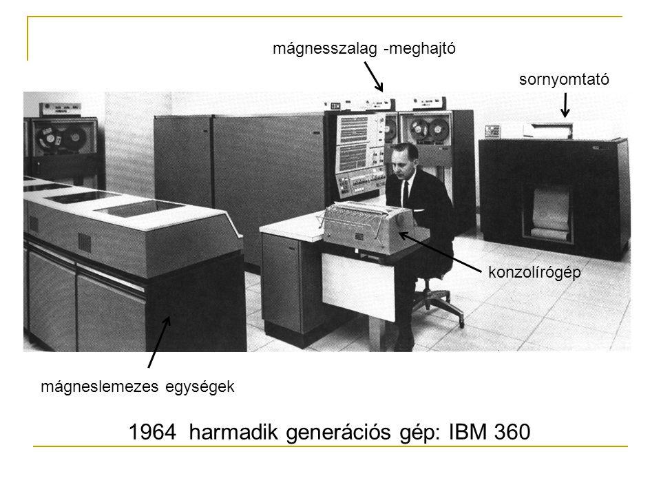 1964 harmadik generációs gép: IBM 360