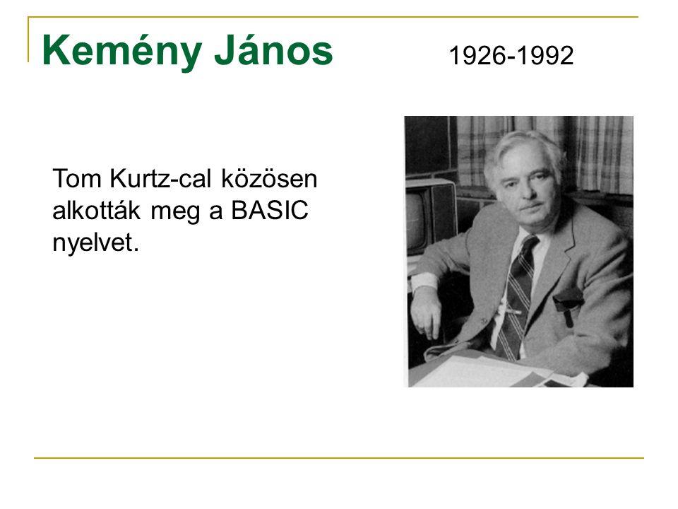 Kemény János 1926-1992 Tom Kurtz-cal közösen