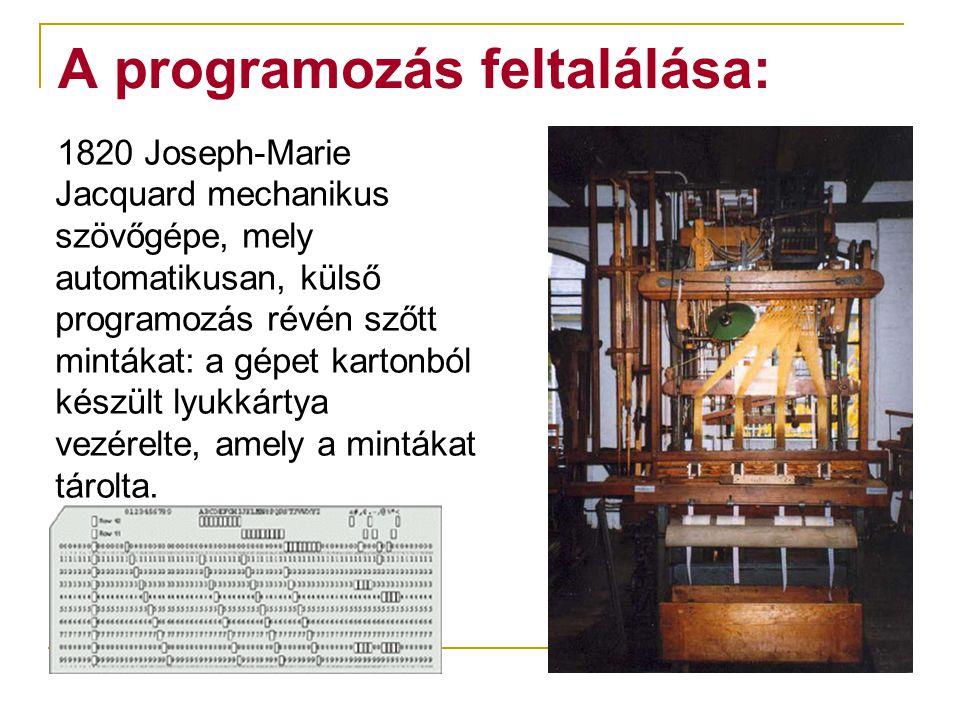 A programozás feltalálása: