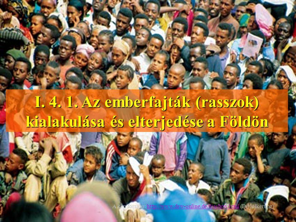 I. 4. 1. Az emberfajták (rasszok) kialakulása és elterjedése a Földön