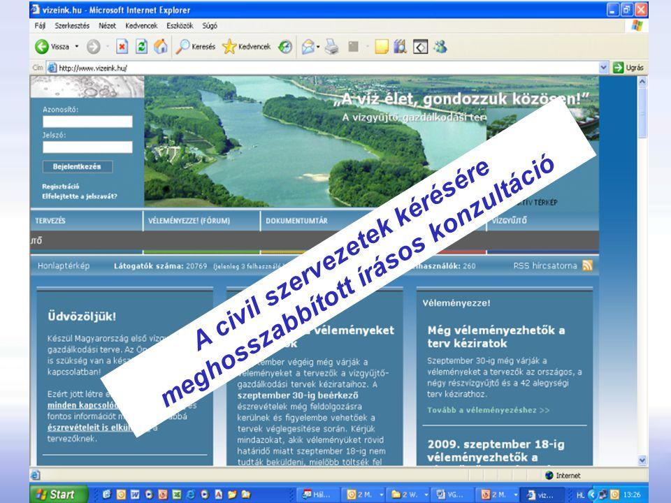 A civil szervezetek kérésére meghosszabbított írásos konzultáció
