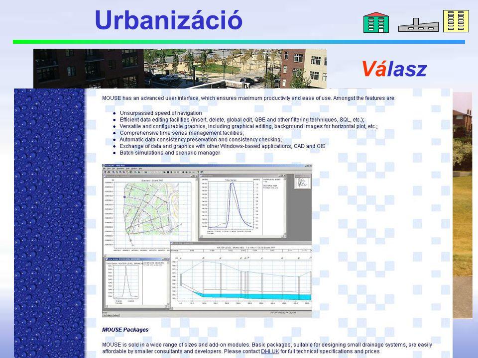 Urbanizáció extremizáció Változás Hatás Válasz