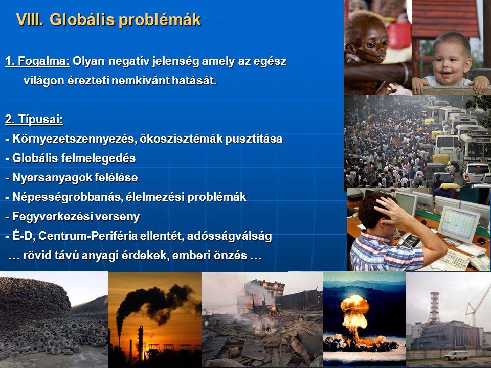 VIII. Globális problémák