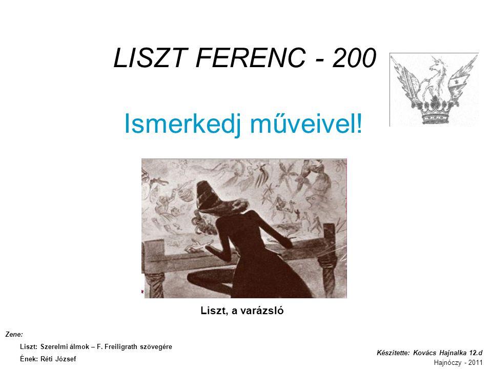 LISZT FERENC - 200 Ismerkedj műveivel!