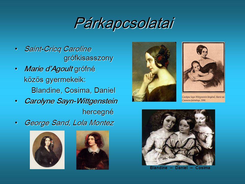 Párkapcsolatai Saint-Cricq Caroline grófkisasszony