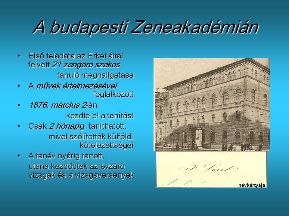 A budapesti Zeneakadémián