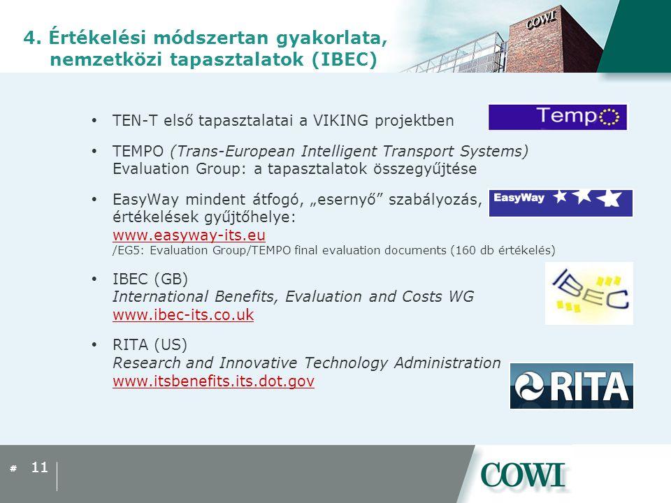 4. Értékelési módszertan gyakorlata, nemzetközi tapasztalatok (IBEC)