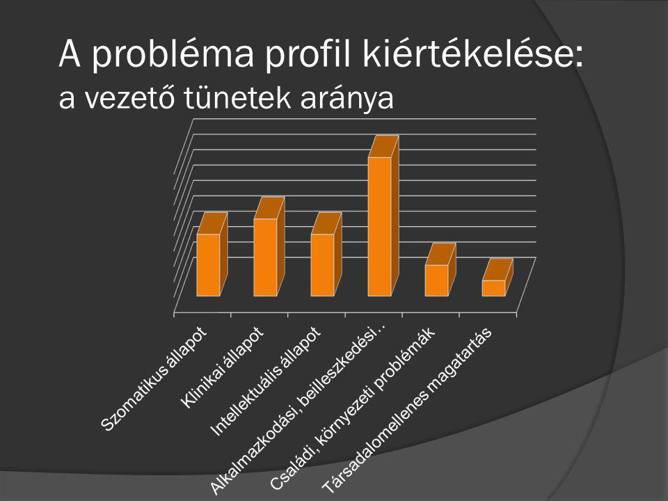 A probléma profil kiértékelése: a vezető tünetek aránya