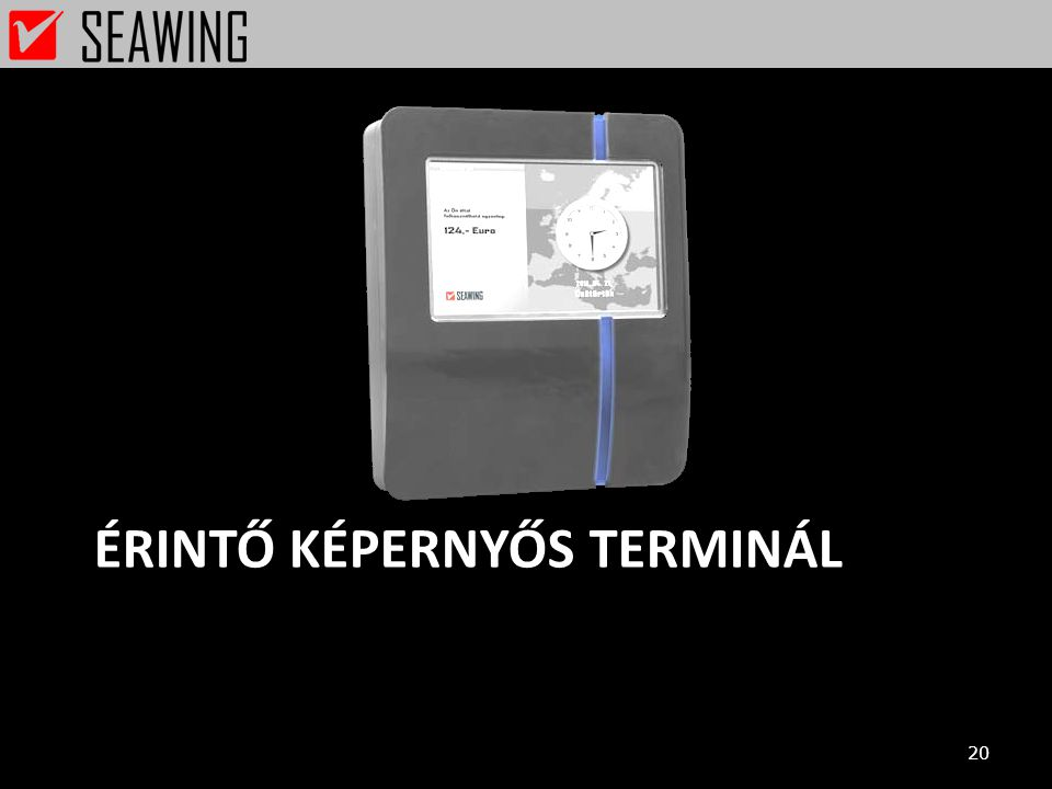 Érintő képernyős terminál