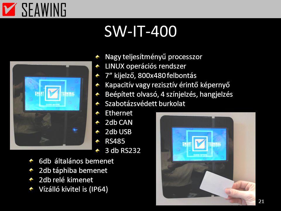 SW-IT-400 Nagy teljesítményű processzor LINUX operációs rendszer
