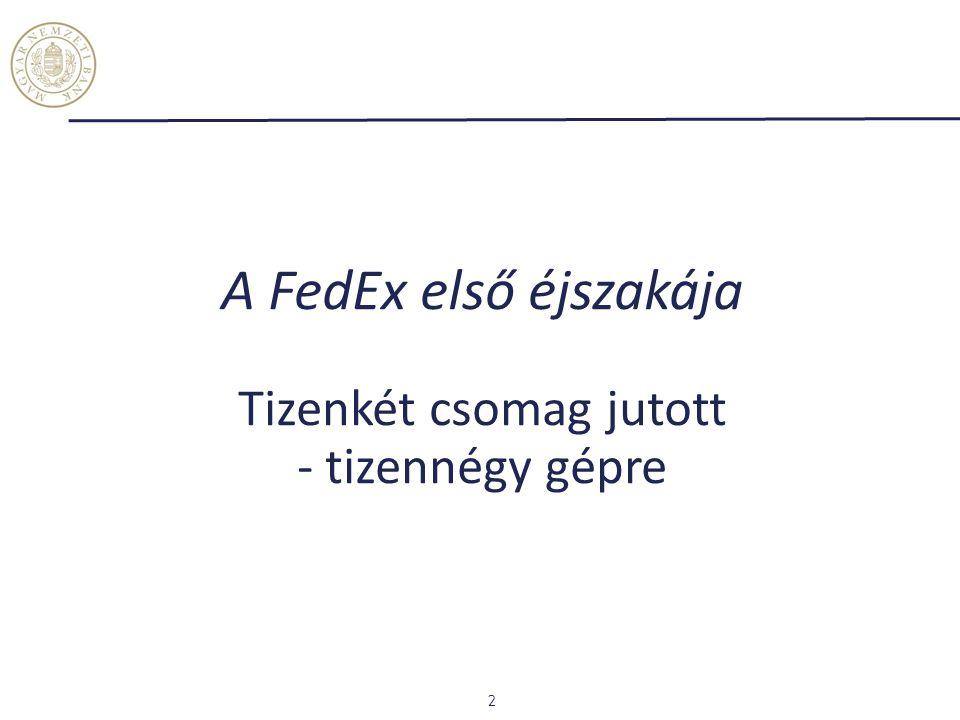 A FedEx első éjszakája Tizenkét csomag jutott - tizennégy gépre