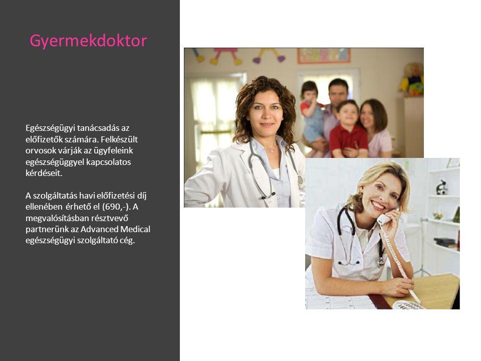 Gyermekdoktor Egészségügyi tanácsadás az előfizetők számára. Felkészült orvosok várják az ügyfeleink egészségüggyel kapcsolatos kérdéseit.