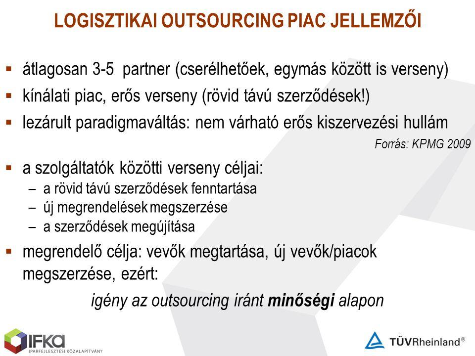 LOGISZTIKAI OUTSOURCING PIAC JELLEMZŐI