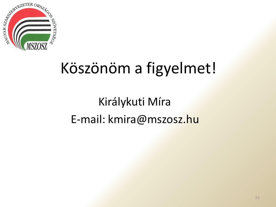 Királykuti Míra E-mail: kmira@mszosz.hu
