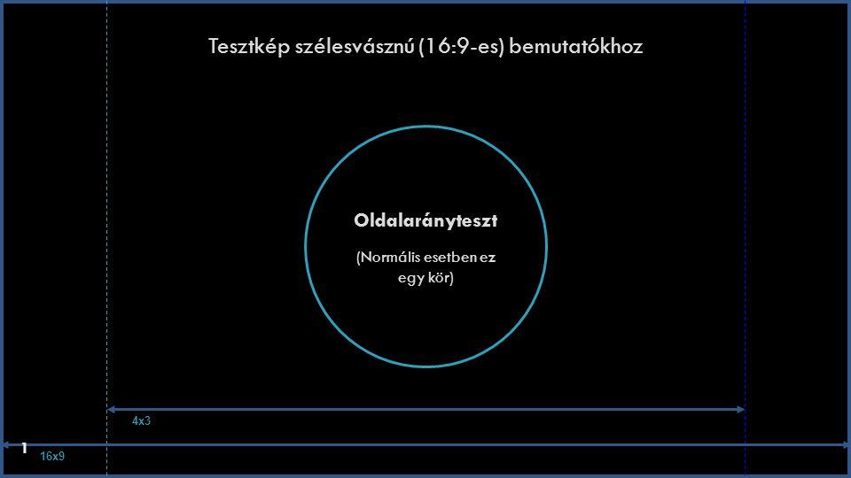 Tesztkép szélesvásznú (16:9-es) bemutatókhoz