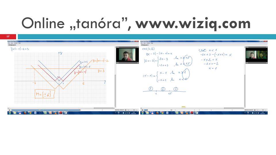 """Online """"tanóra , www.wiziq.com"""