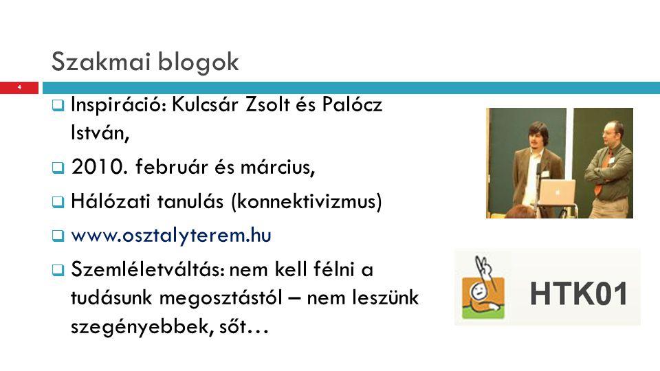 Szakmai blogok Inspiráció: Kulcsár Zsolt és Palócz István,