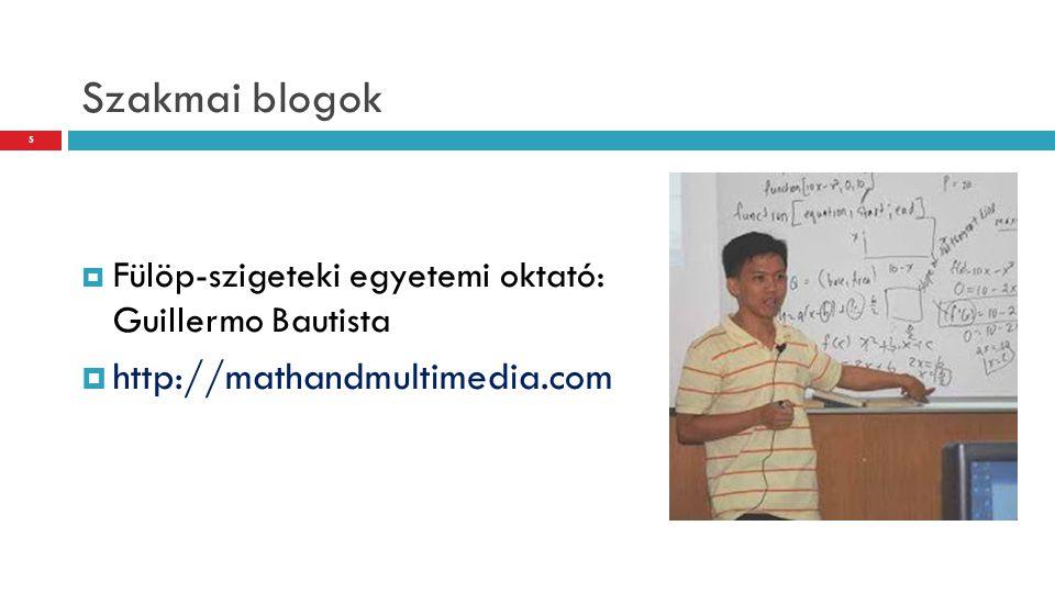 Szakmai blogok http://mathandmultimedia.com