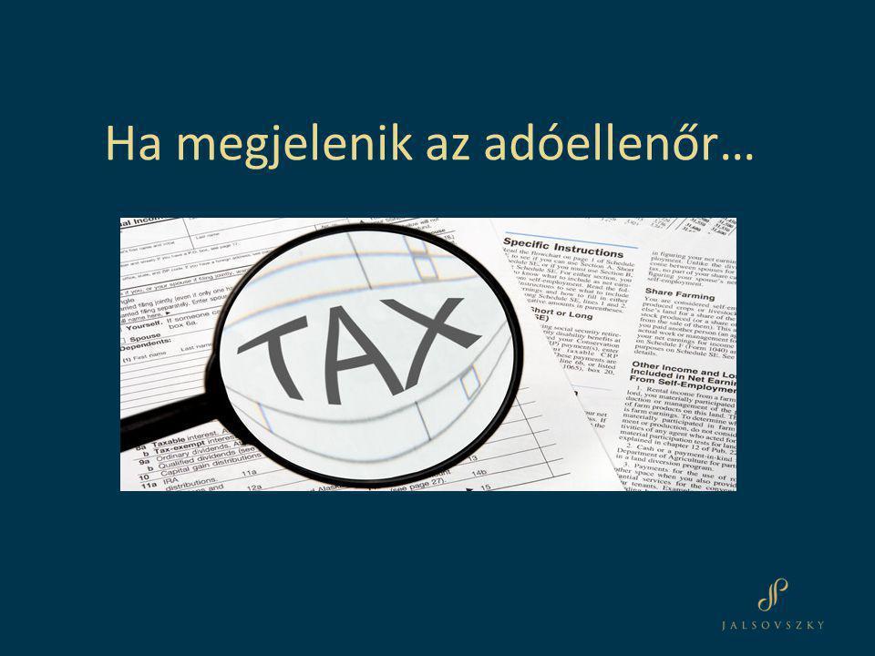 Ha megjelenik az adóellenőr…