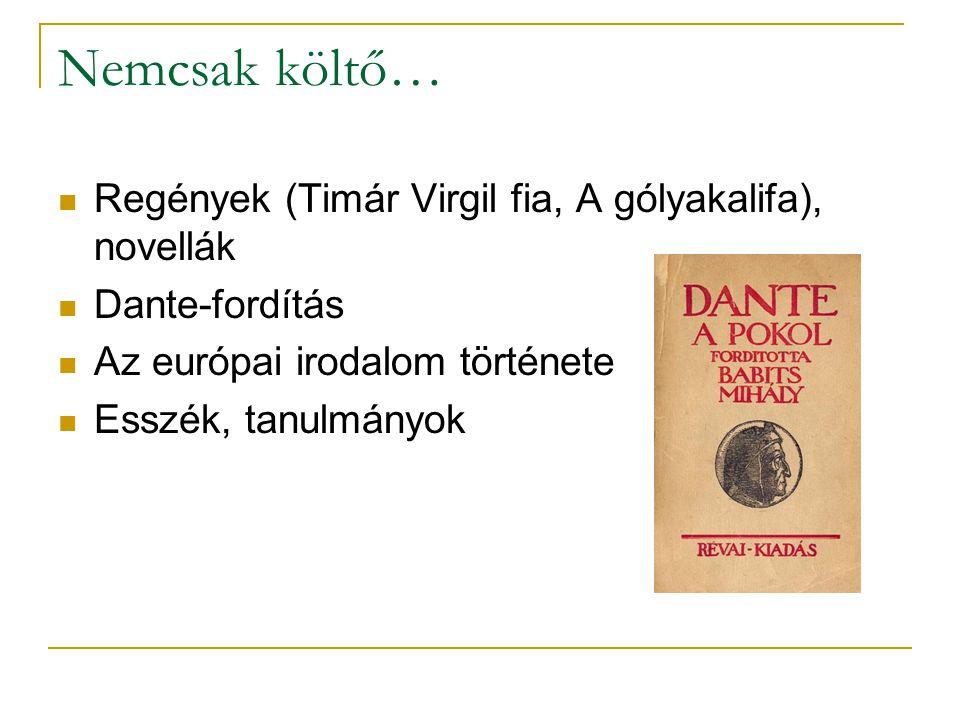 Nemcsak költő… Regények (Timár Virgil fia, A gólyakalifa), novellák