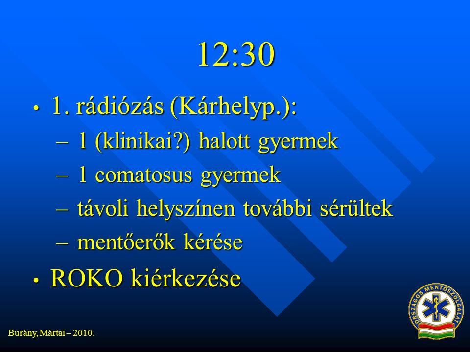 12:30 1. rádiózás (Kárhelyp.): ROKO kiérkezése