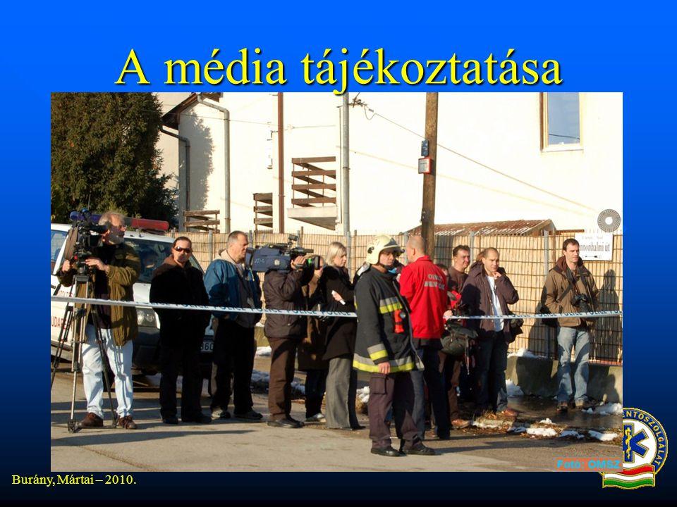 A média tájékoztatása Burány, Mártai – 2010.