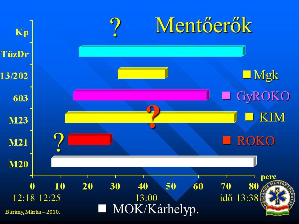 Mentőerők Mgk GyROKO KIM ROKO MOK/Kárhelyp. 12:18 12:25 13:00