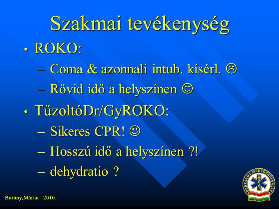 Szakmai tevékenység ROKO: TűzoltóDr/GyROKO: