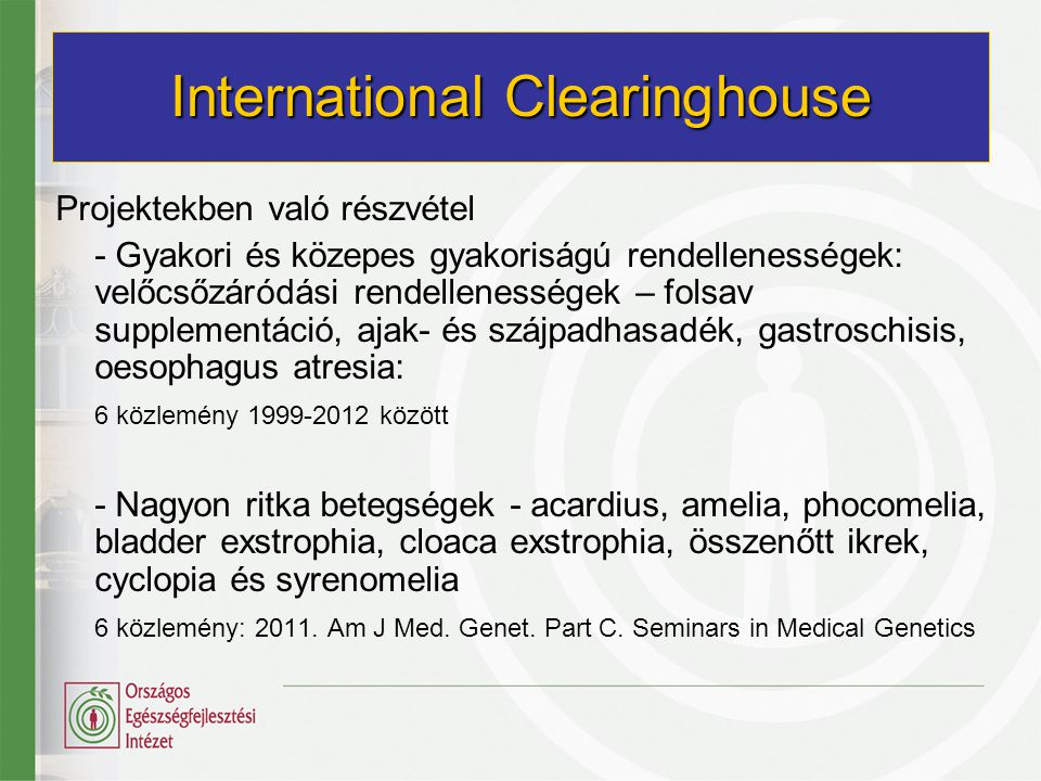 International Clearinghouse