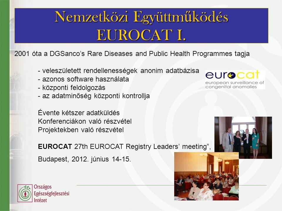 Nemzetközi Együttműködés EUROCAT I.