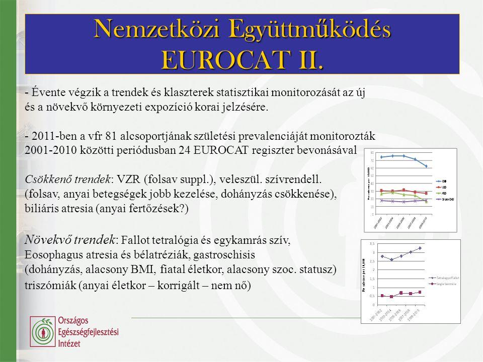 Nemzetközi Együttműködés EUROCAT II.