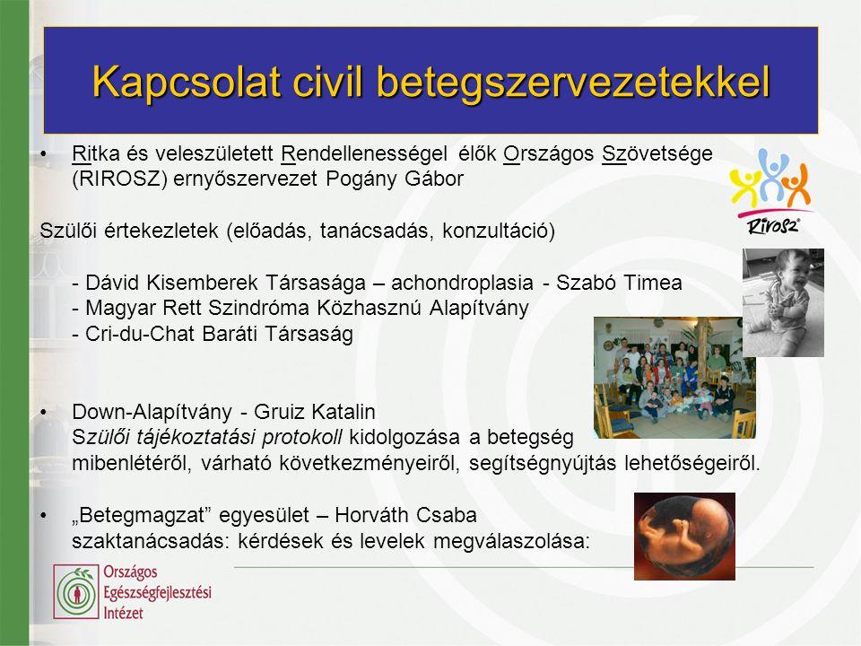 Kapcsolat civil betegszervezetekkel