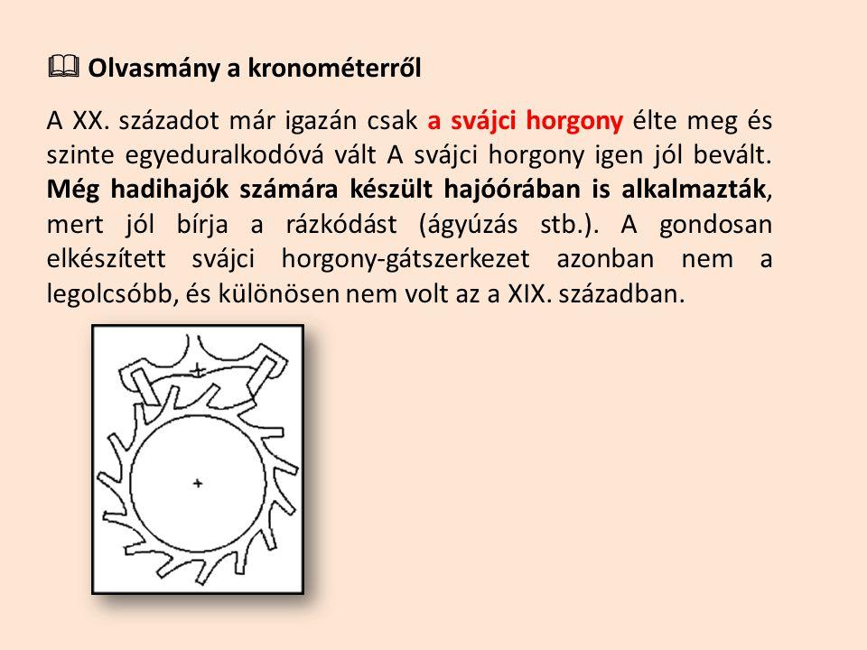  Olvasmány a kronométerről