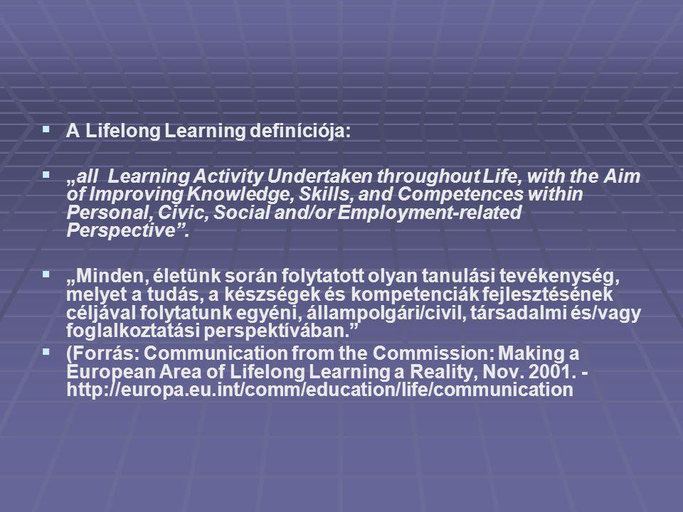 A Lifelong Learning definíciója: