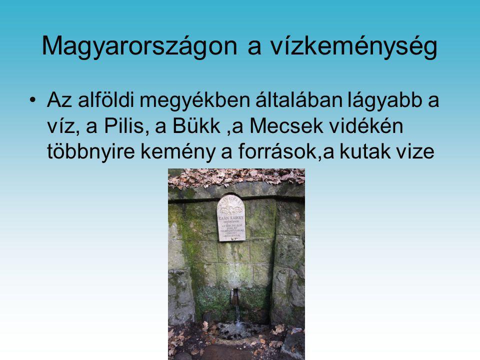Magyarországon a vízkeménység