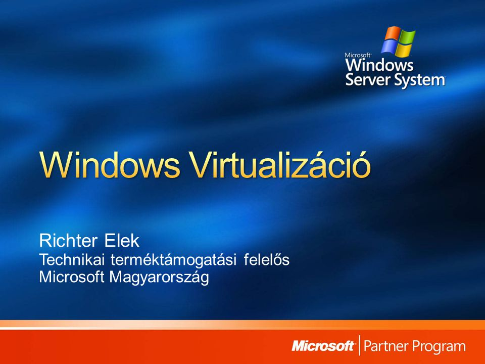 Windows Virtualizáció