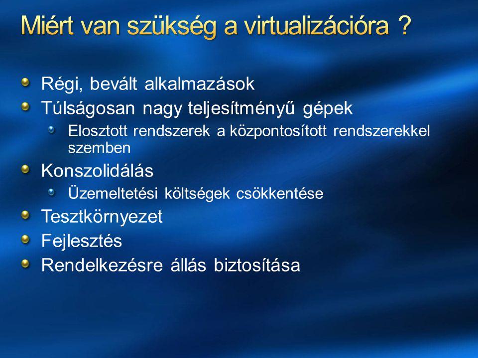 Miért van szükség a virtualizációra