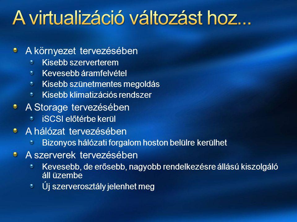 A virtualizáció változást hoz...
