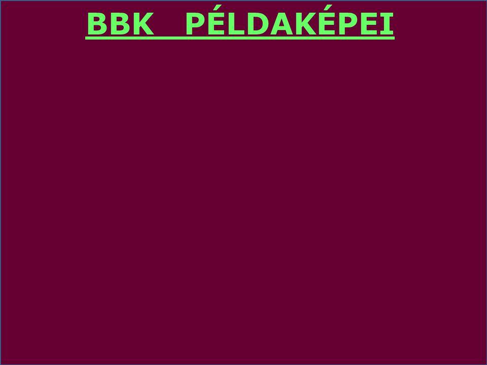 BBK PÉLDAKÉPEI