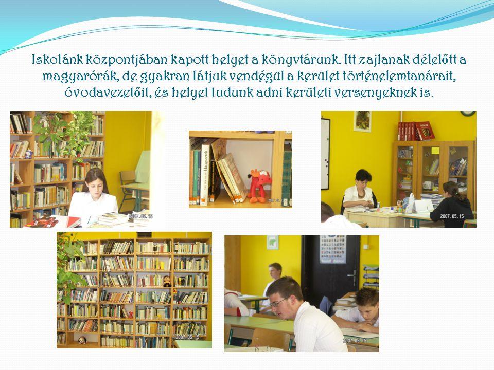 Iskolánk központjában kapott helyet a könyvtárunk