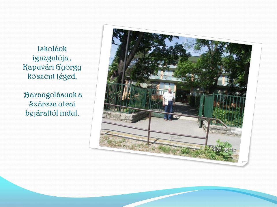 Iskolánk igazgatója , Kapuvári György köszönt téged
