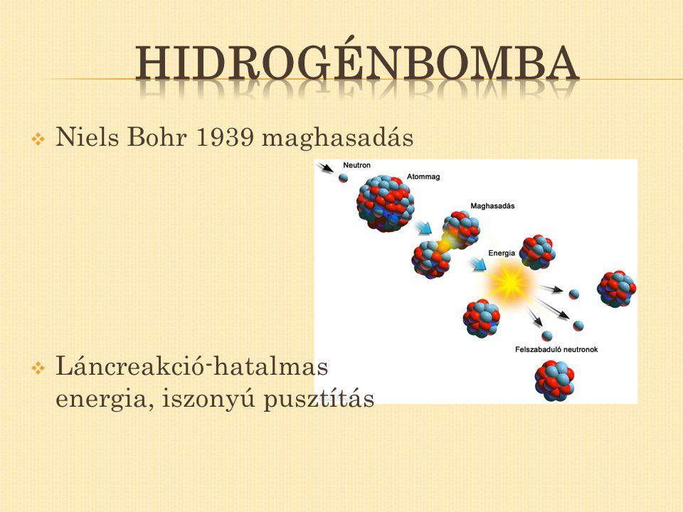 Hidrogénbomba Niels Bohr 1939 maghasadás